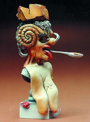 "SALVADOR DALI  ""Bildnis des Picasso"" prachtvolle MUSEUMS Skulptur - Sammlerfigur"