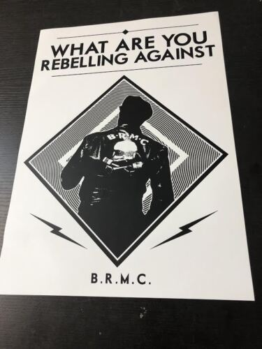 Black Rebel Motorcycle Club Euro Poster What are You Rebelling against