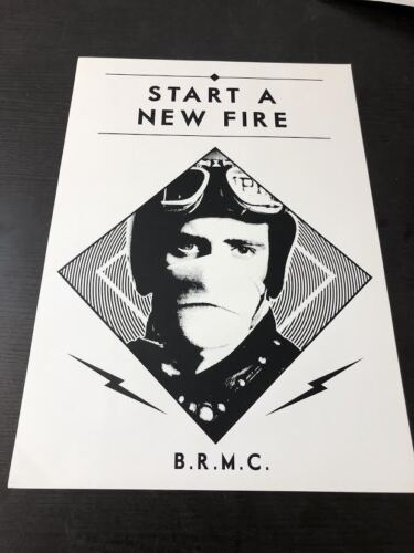 Black Rebel Motorcycle Club Euro Poster Start a New Fire