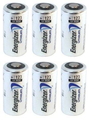 6 Energizer 3V Lithium Cr123a Batteries For Camera  Flashlight Etc