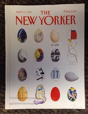 New Yorker 1993 Magazine April 12 Cover Art  Shell Games By Benoit Van Innis