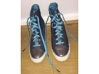 Girls or Womens Daddy's Money brand hidden heel / concealed wedge trainers / sneakers, high top.