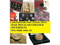 Coin Collections Wanted - CASH PAID