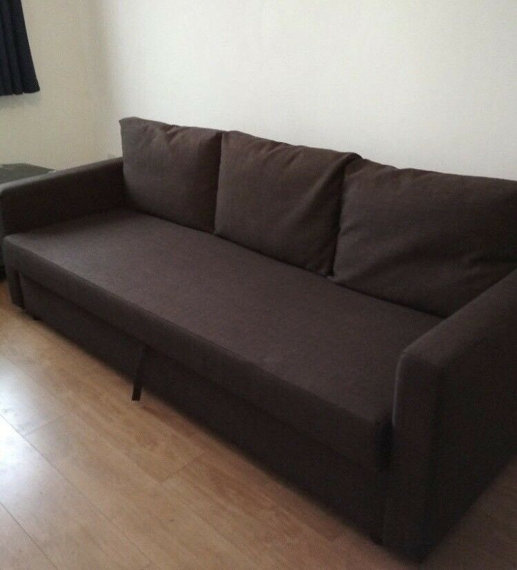 FREE DELIVERY IKEA FRIHETEN BROWN 3 SEAT SOFA BED GREAT