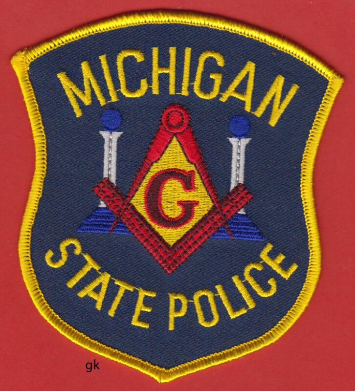 MICHIGAN STATE POLICE MASON MASONIC SHOULDER PATCH