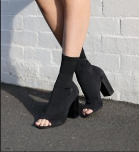 Tony Bianco- Malo Boots (black open toe)