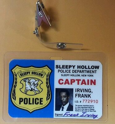 Sleepy Hollow Id-Plakette Captain Frank Irving Kostüm Cosplay
