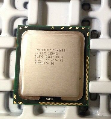 Slbv5 Intel Xeon X5680 3 33Ghz Six Core  At80614005124aa  Processor