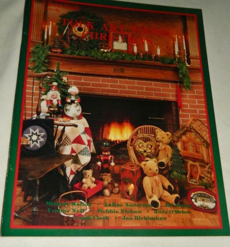 Folk Art Finish Christmas Tole Painting  Pattern Booklet 1986