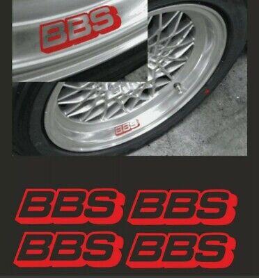 4x BBS Felgen Sticker Aufkleber Tuning Decal Mercedes BMW VW Audi