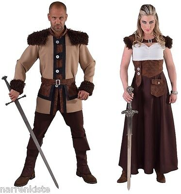 Wikinger Kostüm Kleid Hunne Barbar Mittelalter Gote Mongolen Wikingerkostüm -