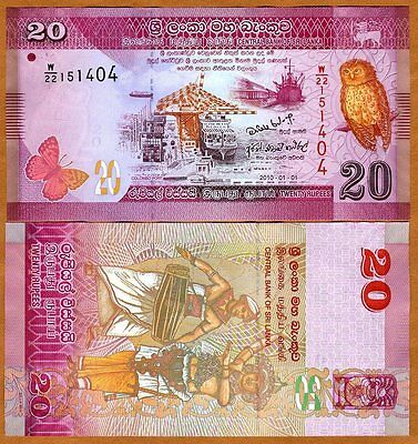 Sri Lanka, 20 Rupees, 2015, P-123c, UNC > Colorful