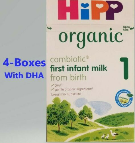 HiPP UK-800g 4-Boxes Stage -1-Organic Combiotic-First Infant Free-Shipping