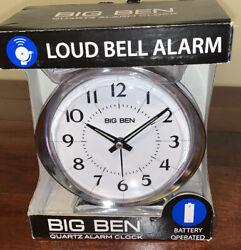 Big Ben Quartz Alarm Clock - Loud Bell Alarm - 10611QA NEW