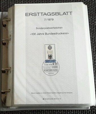 Sammlung ETB Ersttagsblatt BERLIN 1/80 - 14/90 TOP Zustand