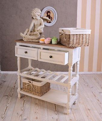 Holztisch Küchen Anrichte im französischen landhausstil Vintage