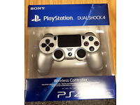 PS4 Dual Shock 4 Contoller, Silver - Brand New