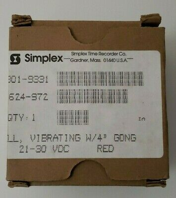 New Simplex 2901-9331 Vibrating Bell W 4 Gong Fire Alarm Free Shipping