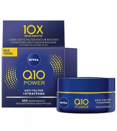 NIVEA Q10 Power Straffung Nachtpflege 50ml - Anti Aging Anti Falten Nachtcreme