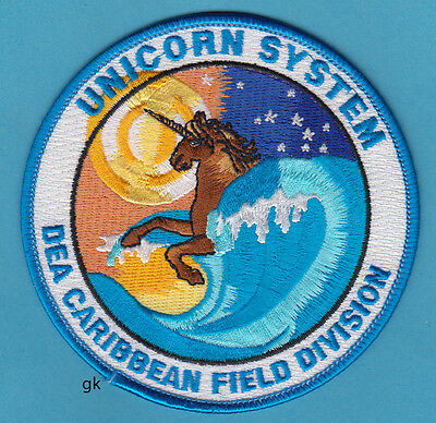 DEA UNICORN DRUG ENFORCEMENT ADMINISTRATION CARIBBEAN  DIVISION POLICE PATCH
