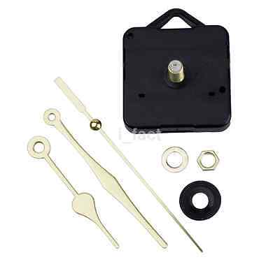 Hot Simple Gold Hands DIY Quartz Wall Clock Movement Mechanism Replacement Parts