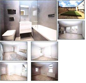 Stunning 3-bed flat . Newly refurbished, modern kitchen + bathroom