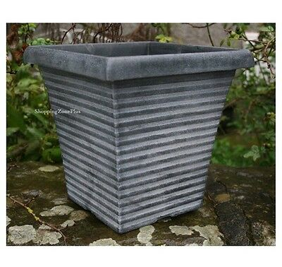 NEW LARGE 2 X TALL TAPERED SQUARE PLANTER POT GARDEN PATIO FLOWER HERB POTS
