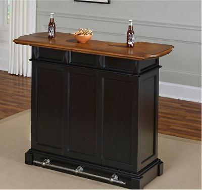Mini Bar Home Liquor Storage Cabinet Portable Service Station Wine Rack Black