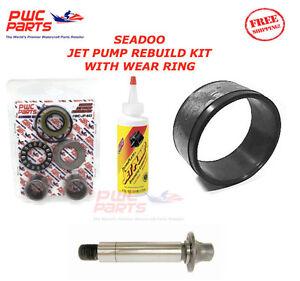 SEADOO Jet Pump Rebuild Kit Wear Ring Impeller Shaft Oil 951 XP GTX RX DI