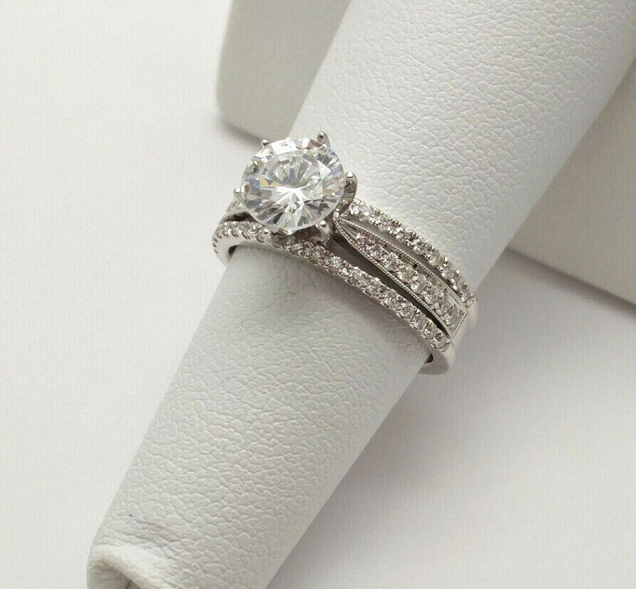 House of Baguettes NEW 14k White Gold .40ctw Diamond Engagem