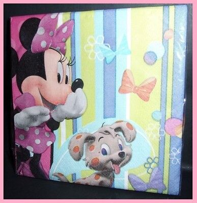 Disney Minnie Mouse Birthday Party 16 count paper beverage napkins No - Minnie Mouse Napkins