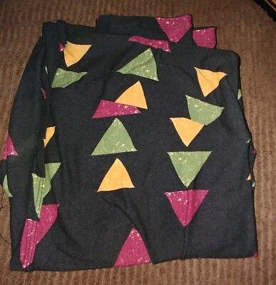 New Lularoe LLR TC Tall Curvy Leggings triangle Print Multicolor Beautiful