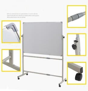 "Mobile Reversible Magnetic boardOne side whiteboard 48""W X 36""H 190303"
