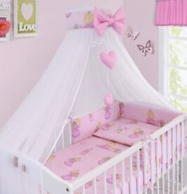 Baby bedding set with canopy
