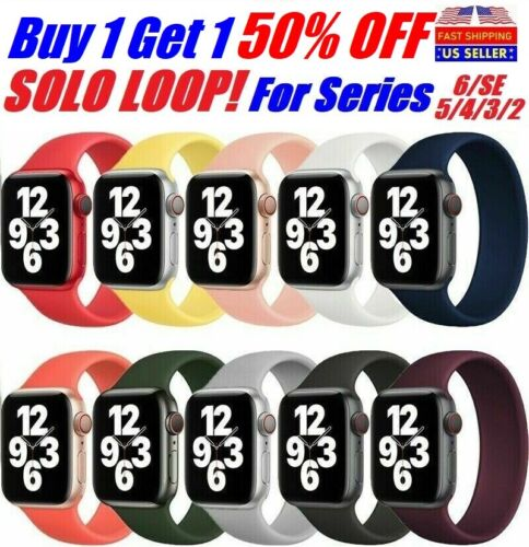SOLO Elastic Belt Loop Silicone Strap for Apple Watch 6 SE 5 4 3 2 1 iWatch band