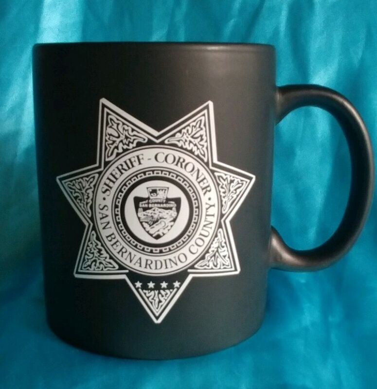 San Bernardino County Sheriff Coroner Police Badge Coffee Cup Mug