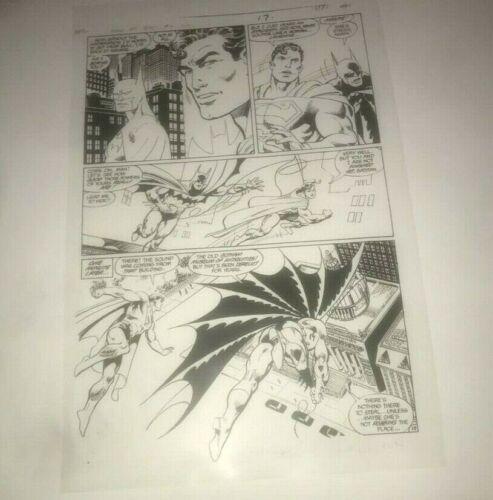 Superman Batman Worlds Finest Team DC Comics Cover Production Art Acetate rare