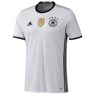 ADIDAS -GERMANY -Men's Official Soccer Jersey -White -2014 World Champions - L image