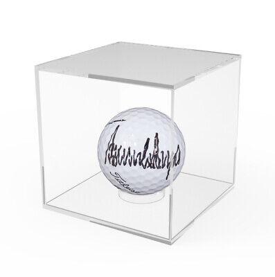 Golf Ball Display Baseball Showcase Clear Acrylic Riser Plexiglass 3.4 Cube