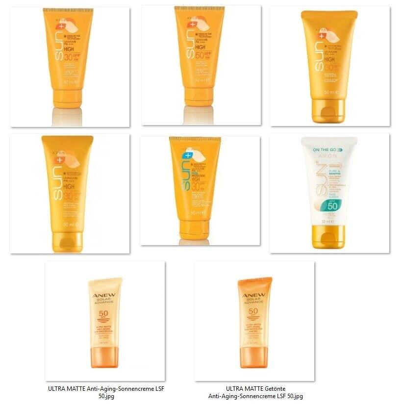 AVON Sun+ Sonnenschutz-Gesichtscreme 50ml LSF30/50 empfindliche Haut - Auswahl