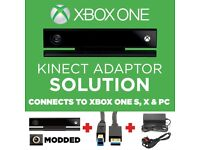 KINECT & ADAPTER SOLUTION!!! XBOX ONE S, X & PC (Used Kinect+USB+Power Supply)