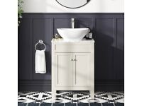 Vanity Unit with Marble Top and Counter Top Basin *Brand New*