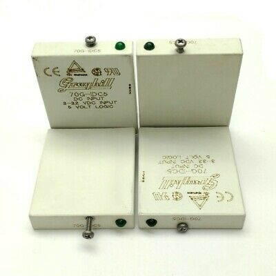 Lot Of 4 Grayhill 70g-idc5 Solid State Relay Module In 3-32vdc Out 5vdc 10ma
