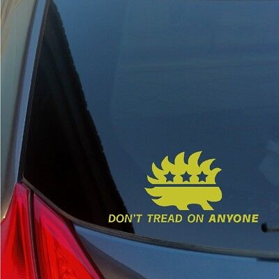 Home Decoration - Don't Tread on Anyone Libertarian Porcupine vinyl sticker decal freedom 1776 2A