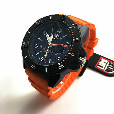 Men's Luminox Navy SEAL Diver's 200 Meter Orange Strap Watch 3603