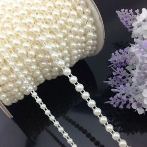 4mm-6mmHandmade-Semi-cirle-Simulated-pearl-Plastic-Chain-beads-DIY-Accessory