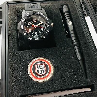 Men's Luminox Navy SEAL Trident Diver's 45mm Watch Set 3501.VP1.SET