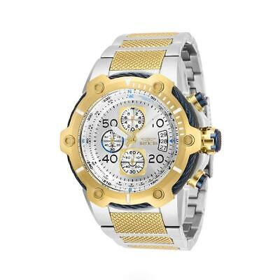 Invicta Bolt 28025 Men's Two-Tone Gold/Black Cable Bezel Chronograph Watch