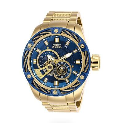 Invicta Bolt 26776 Men's Gold-Tone Gold/BlueCable Bezel 24 Hour Watch