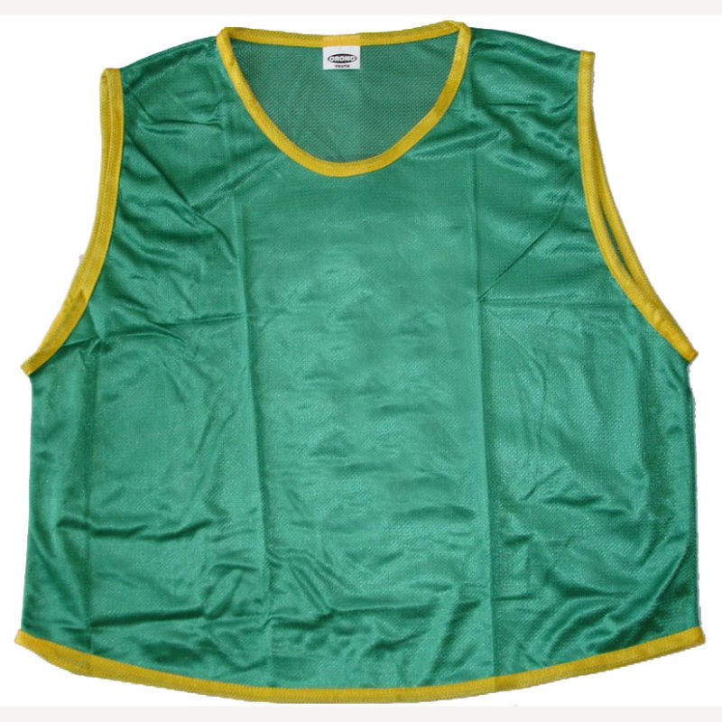 12 GREEN YOUTH SOCCER BASKETBALL MESH SCRIMMAGE VESTS